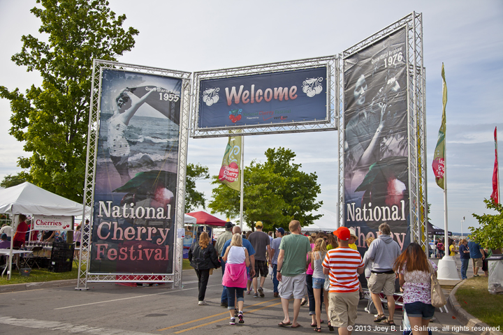 National Cherry Festival Entrance