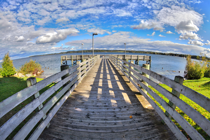 A Dock on Suttons Bay in Leelanau County